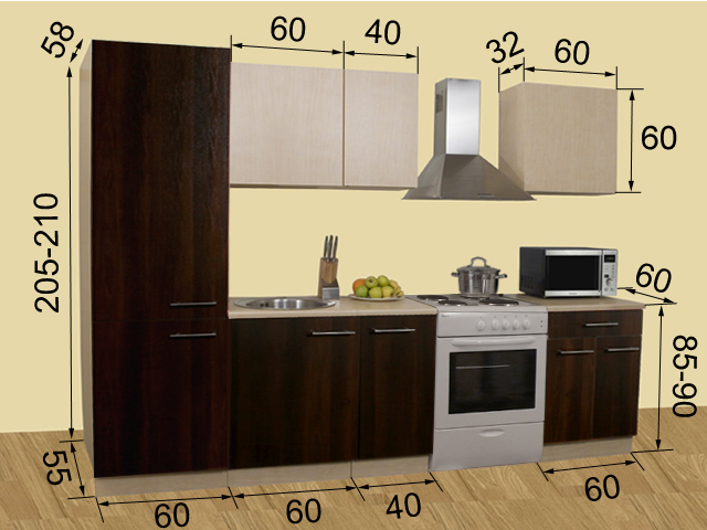 Кухня Kaisa 1 P мини