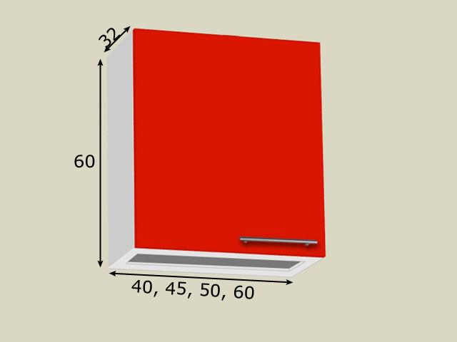 Nõuderesti kapp 1 uksega (kõrgus 60cm)