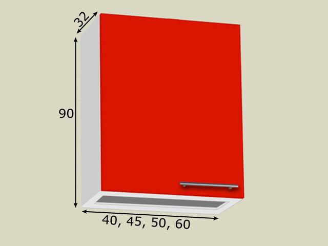 Nõuderesti kapp 1 uksega (kõrgus 90cm)