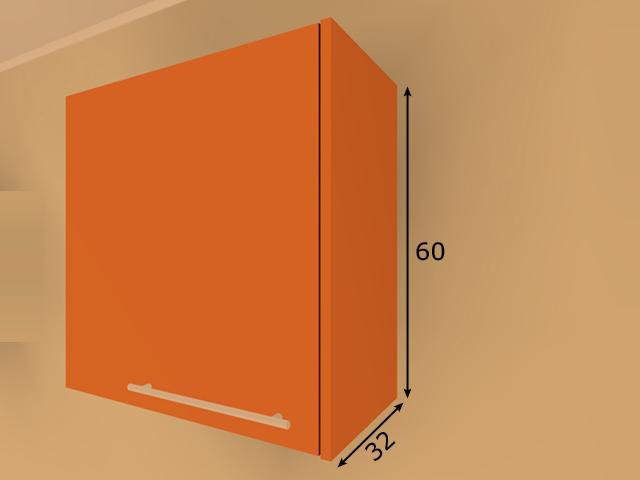 Lisakülg ülemisele 60 cm kõrgele köögikapile