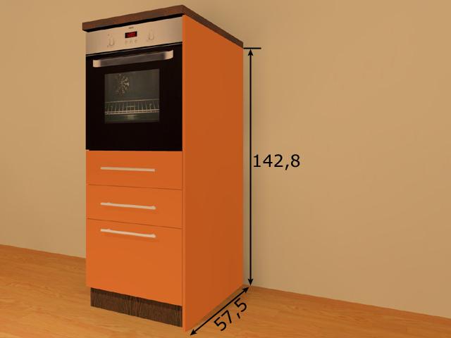 Lisakülg alumisele 145,6 cm kõrgele köögikapile