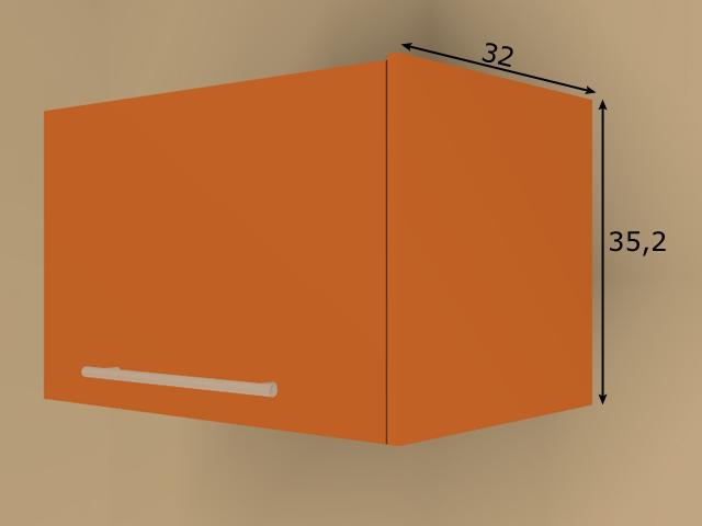 Lisakülg ülemisele 35 cm köögikapile