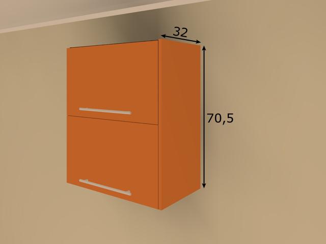 Lisakülg ülemisele 70,5 cm kõrgele köögikapile