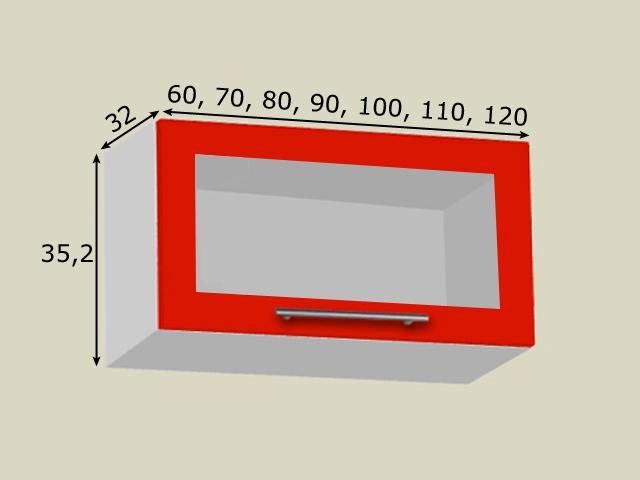 Aventos HKS süsteemiga seinakapp (kõrgus 35,2cm)