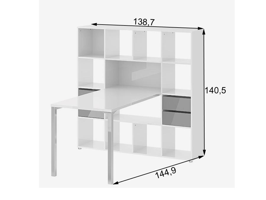 Kirjutuslaud+riiul Function Plus