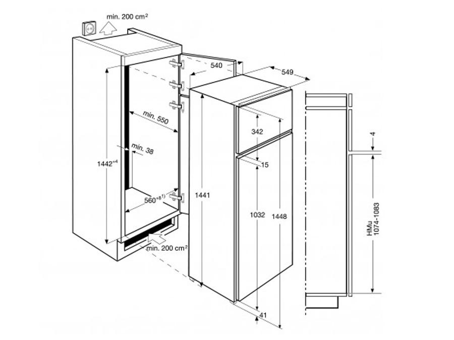 Integreeritav külmik Electrolux EJN2301AOW