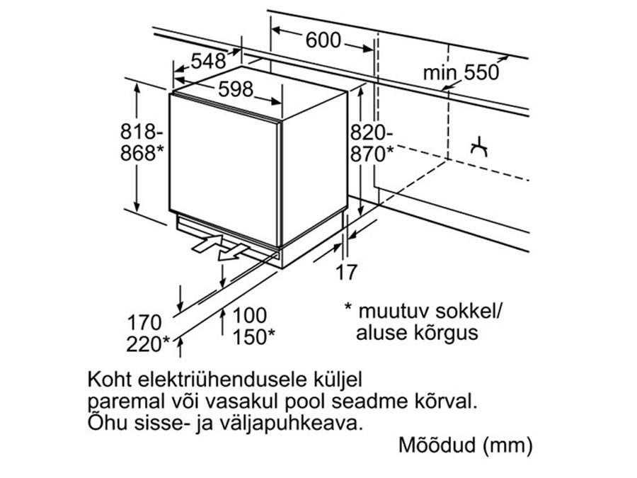 Integreeritav sügavkülmik Bosch GUD15A55