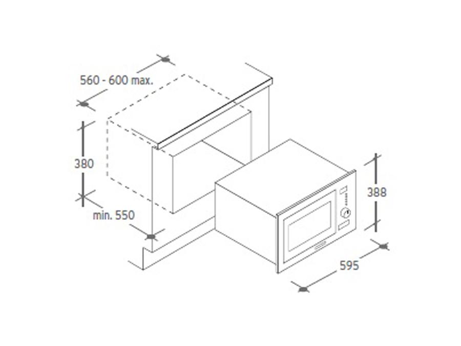 Integreeritav mikrolaineahi Candy MIC25GDFX