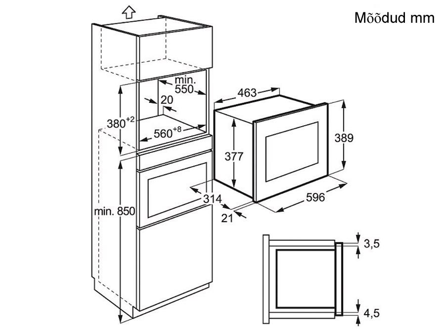 Integreeritav mikrolaineahi Electrolux EMS20107OX