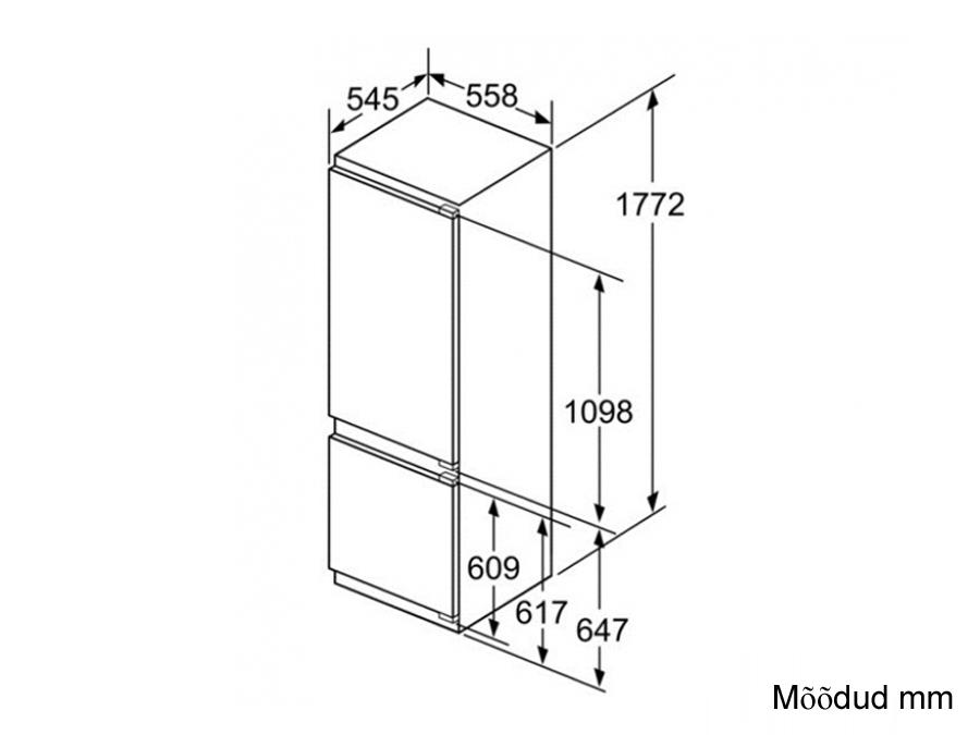 Integreeritav külmik Bosch KIS87AF30