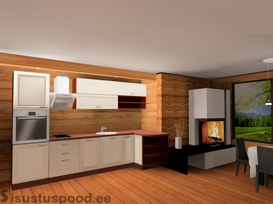 Värvitud ustega köögimööbel Reelika