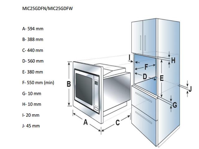 Integreeritav mikrolaineahi Candy MICG25GDFN