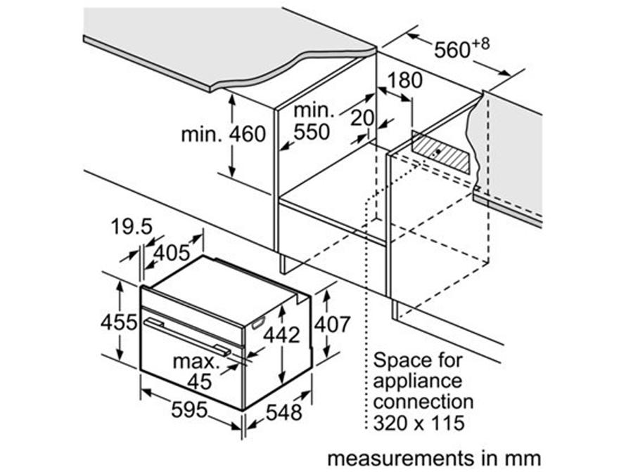 Ahi Bosch CMG633BB1 koos mikrolaineahjuga