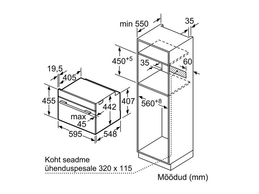 Ahi Bosch CMG633BS1 koos mikrolaineahjuga