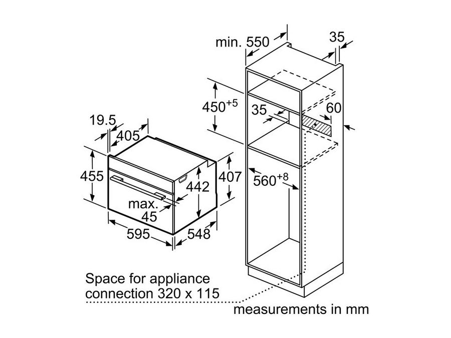 Ahi Bosch CMG633BW1 koos mikrolaineahjuga