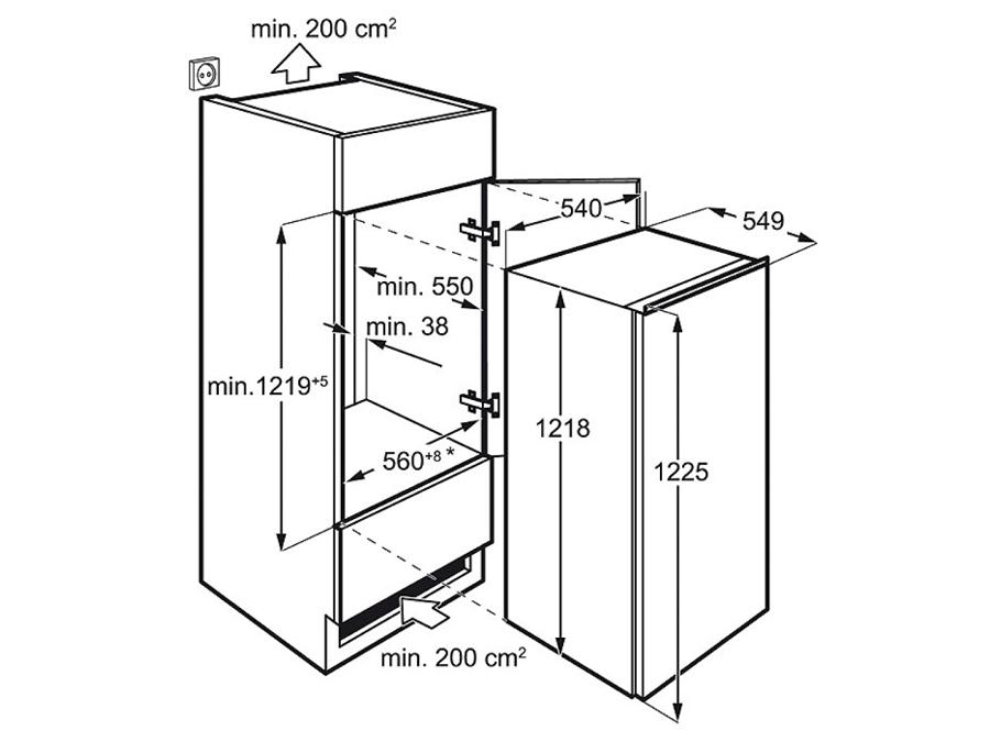 Integreeritav külmik Electrolux ERN2001FOW