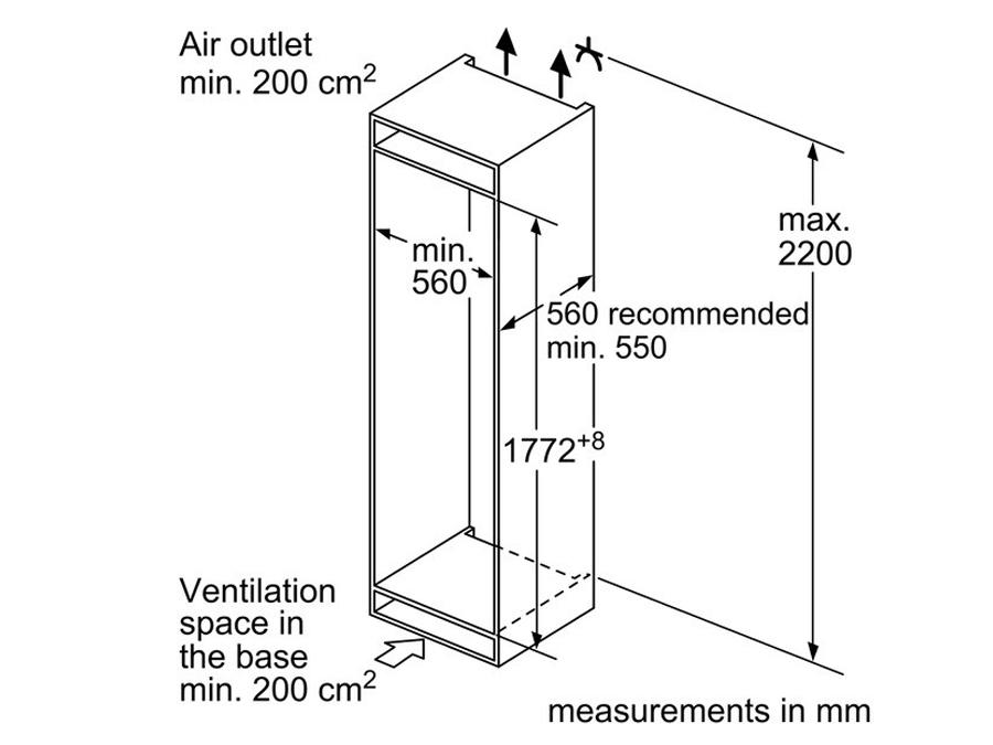 Integreeritav külmik Bosch KIN86VS30 NoFrost