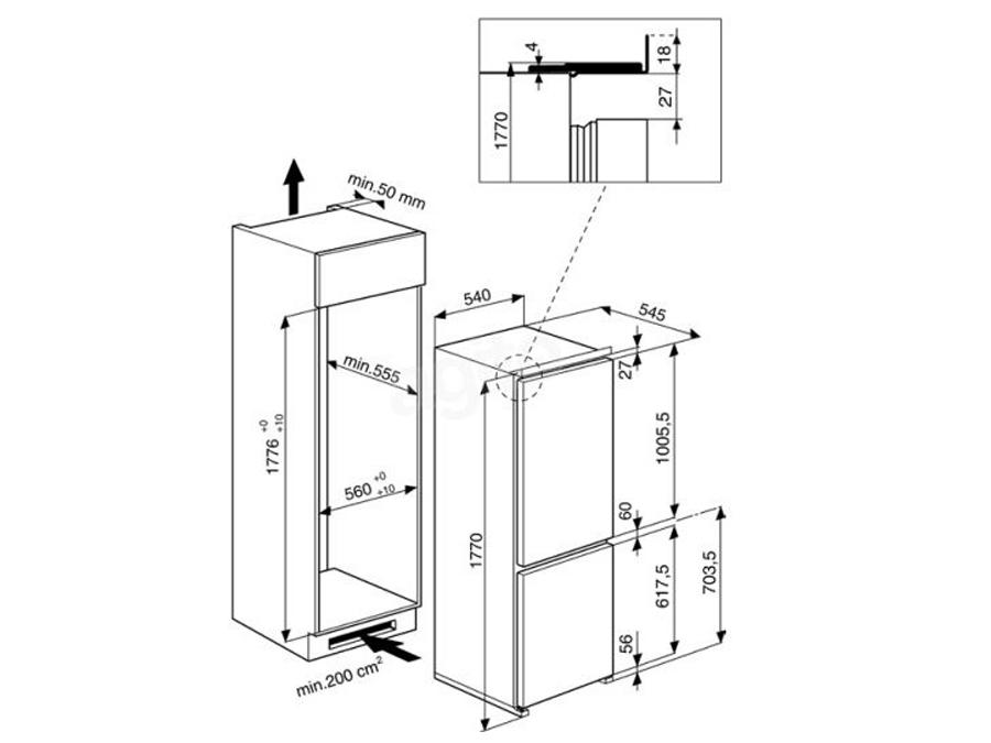 Integreeritav külmik Whirlpool ART5500/A+
