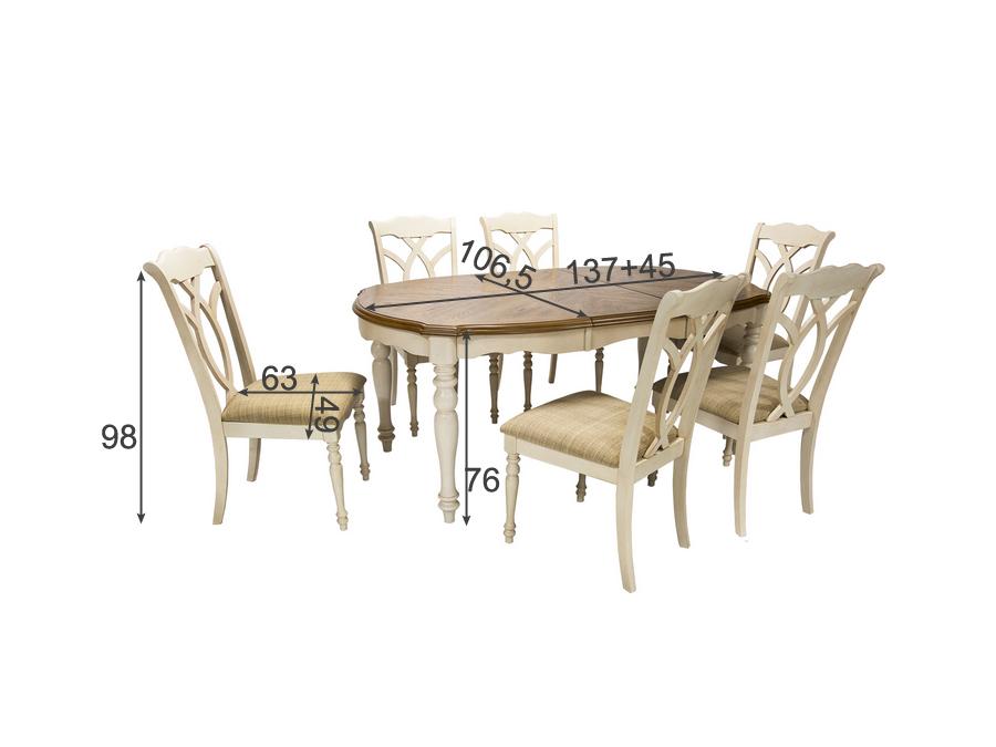 Söögilauakomplekt LILY 6-tooliga
