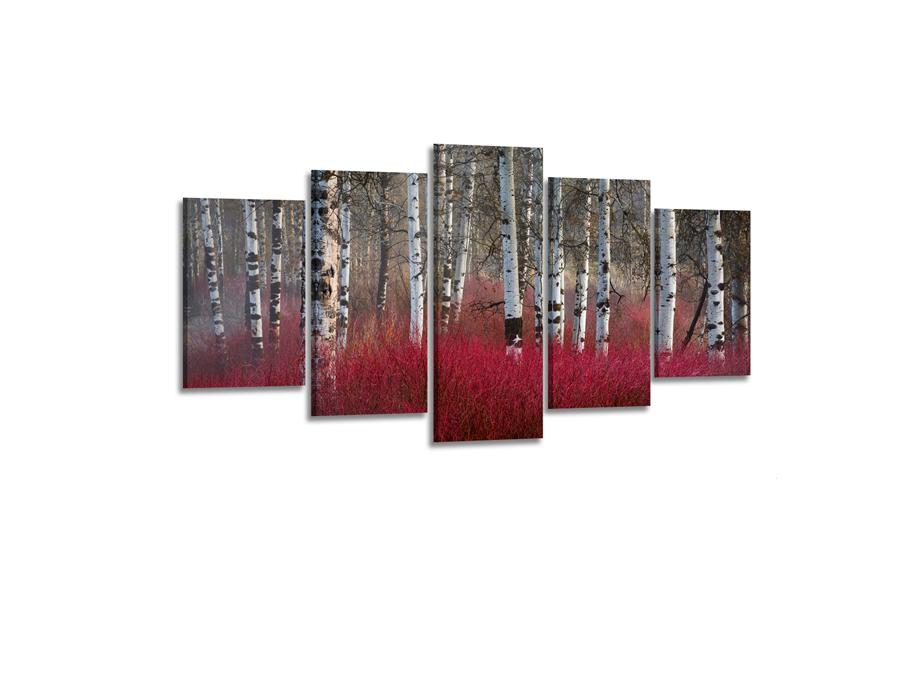 Viieosaline seinapilt Punane kaasik