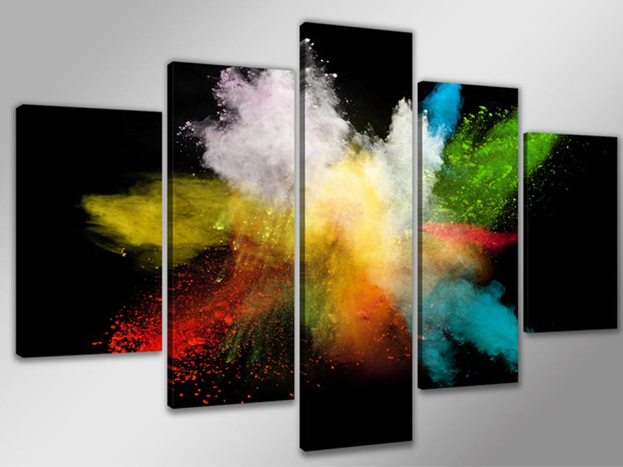 Viieosaline seinapilt Värvid