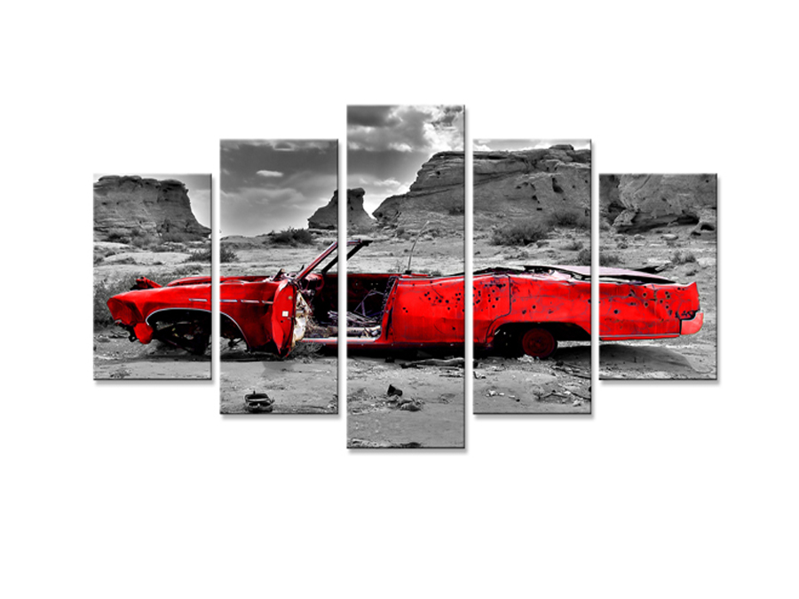 Viieosaline seinapilt Auto