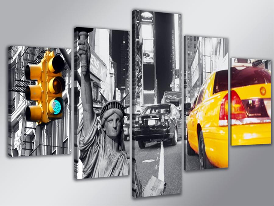 Viieosaline seinapilt New York