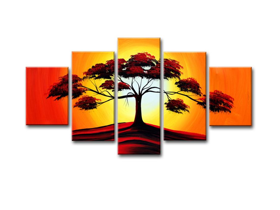 Viieosaline seinapilt Puu