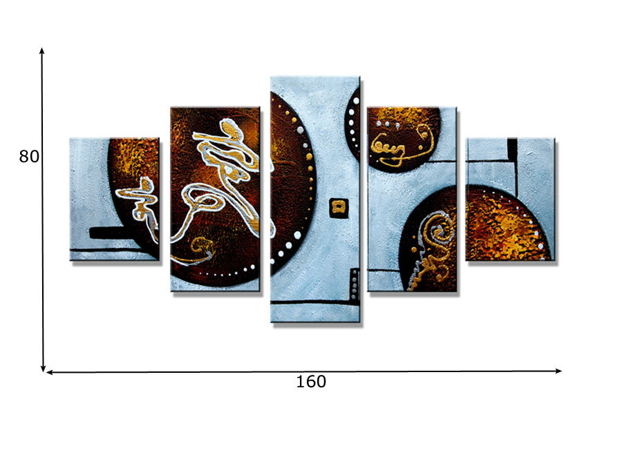 Viieosaline seinapilt Ringid