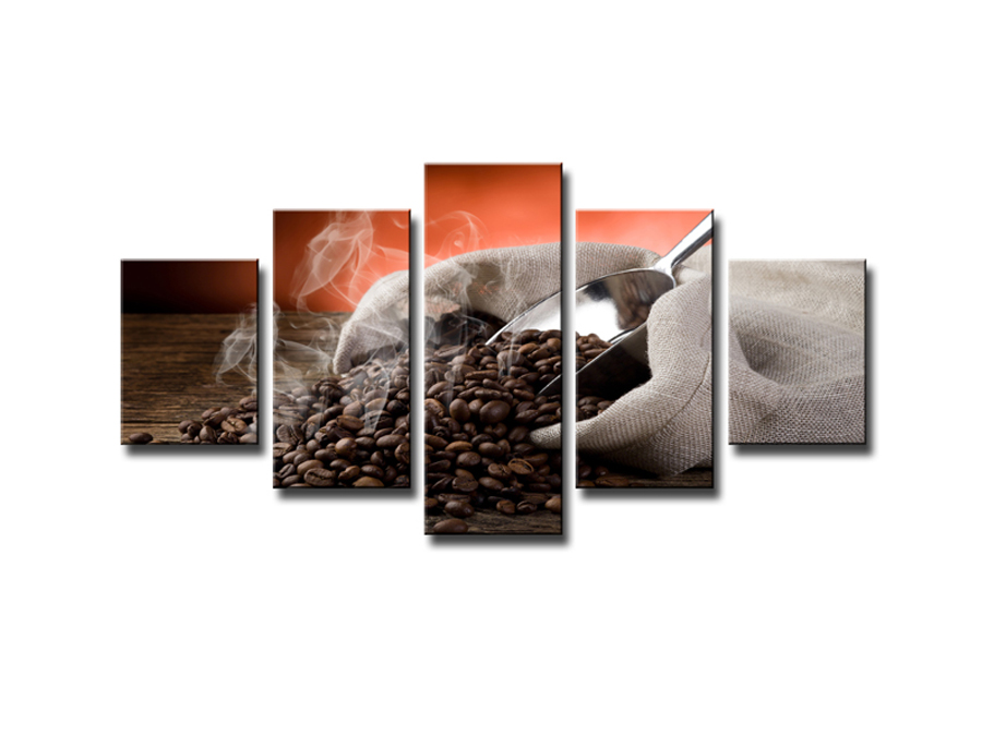 Viieosaline seinapilt Kohvi