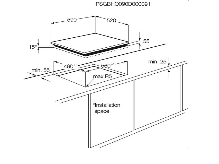 Induktsioon Pliidiplaat Electrolux EHH6340FSK