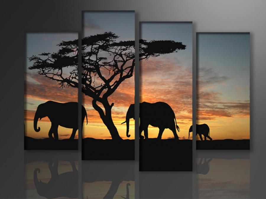 Neljaosaline seinapilt Aafrika