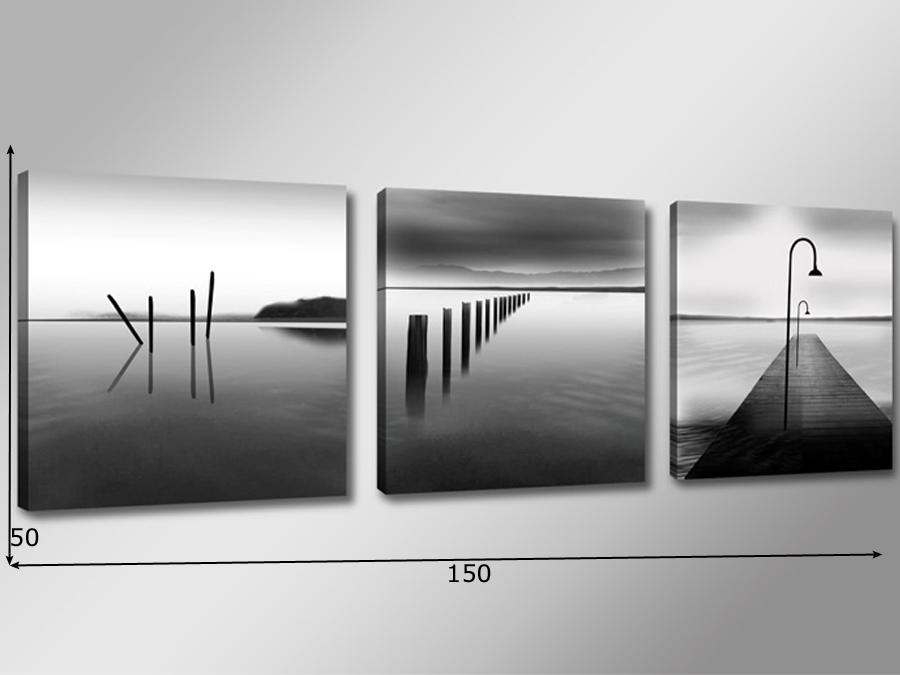 Kolmest osast koosnev seinapilt Järv