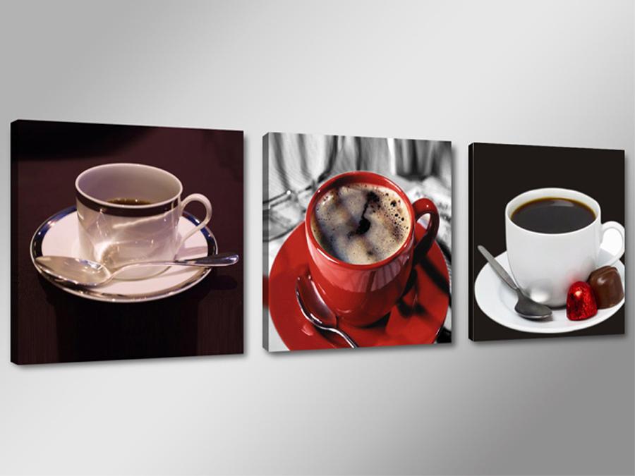 Kolmest osast koosnev seinapilt Kohv