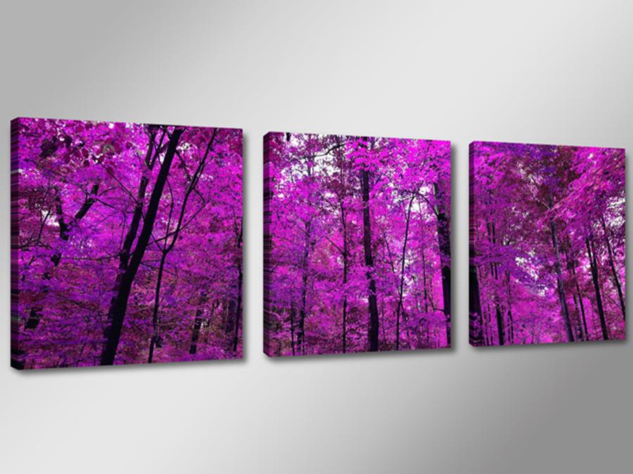 Kolmest osast koosnev seinapilt Lilla mets