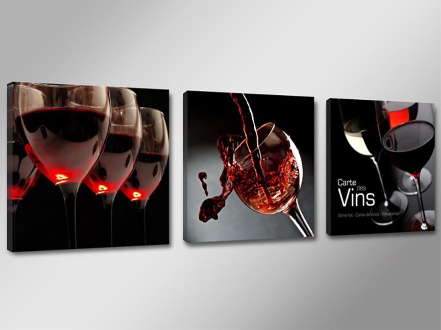 Kolmest osast koosnev seinapilt Vein