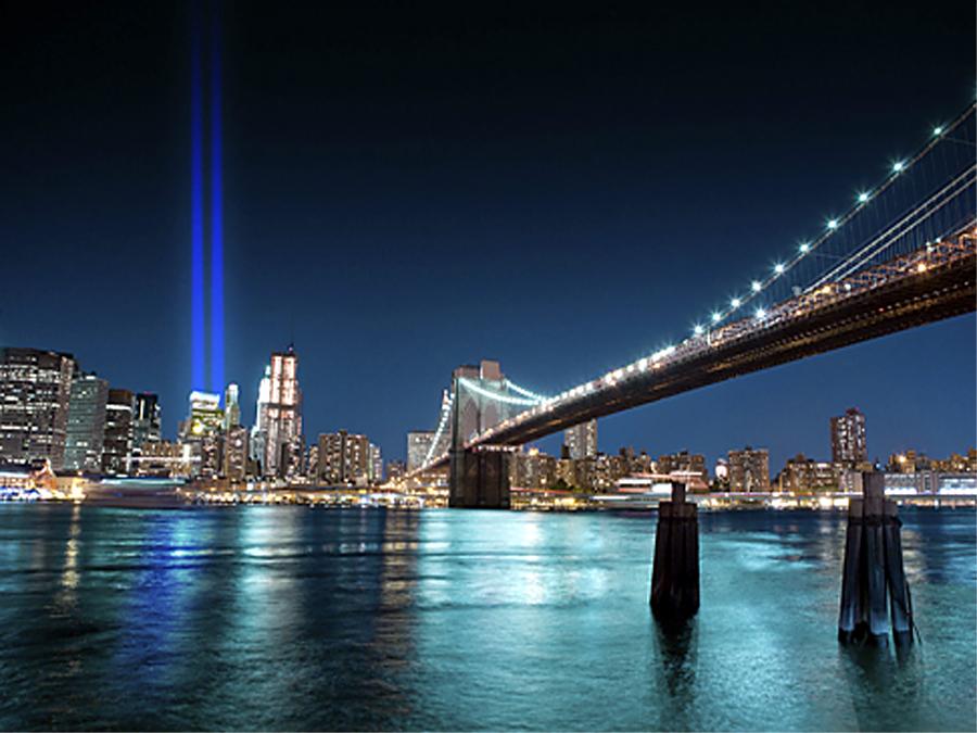 Fototapeet WTC MEMORIAL LIGHTS