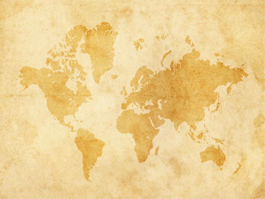 Fototapeet VINTAGE WORLDMAP