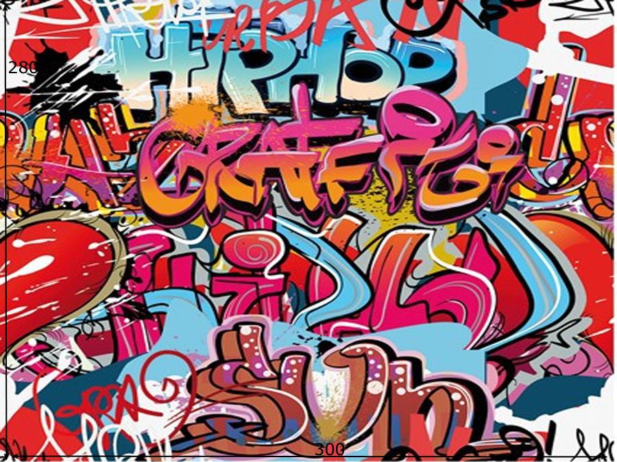 Fototapeet HIP HOP GRAFFITI WALL