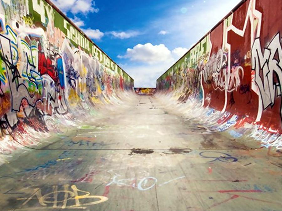 Fototapeet GRAFFITI HALF PIPE