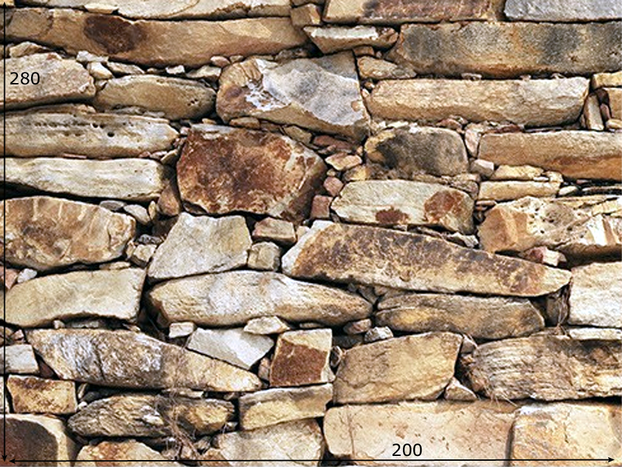 Fototapeet WALL OF STONES