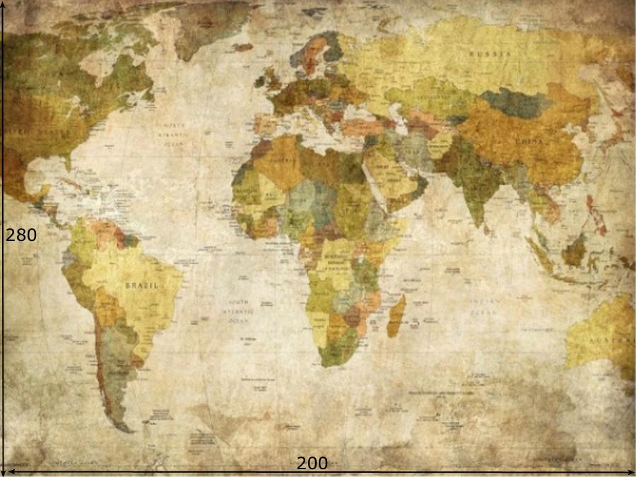 Fototapeet WORLD MAP
