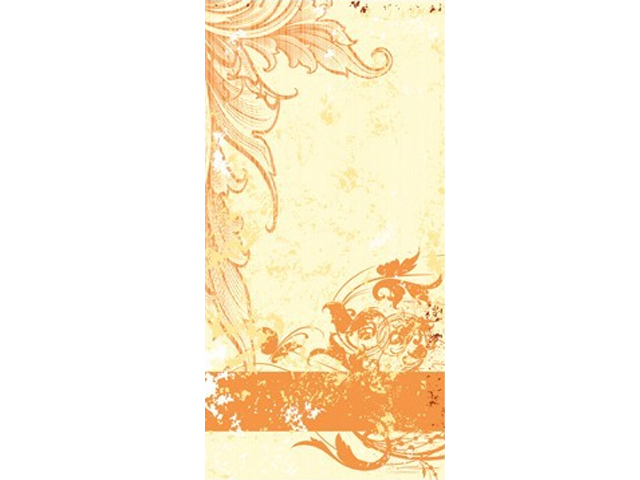 Uksetapeet GRUNGE ORANGE SCROLL