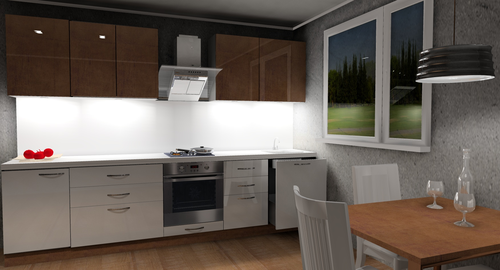 Köögimööbel Zerrin (valgustusega)