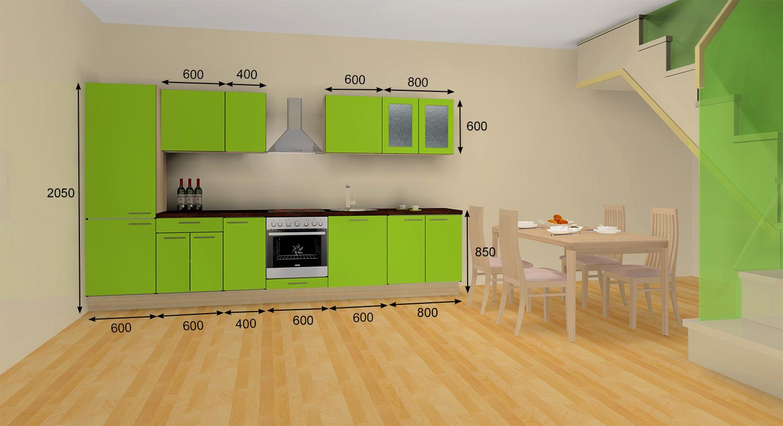 Näidis köögimööbli komplekt 3,6 m