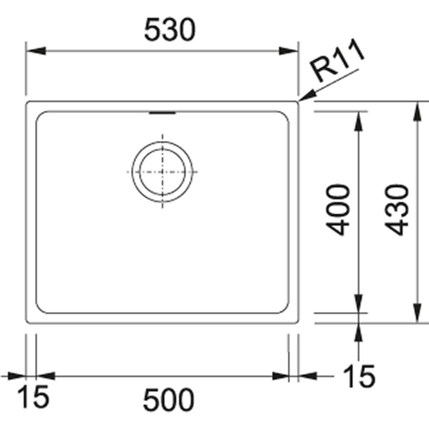 Valamu Franke KBG 210-50 (Grafiit)