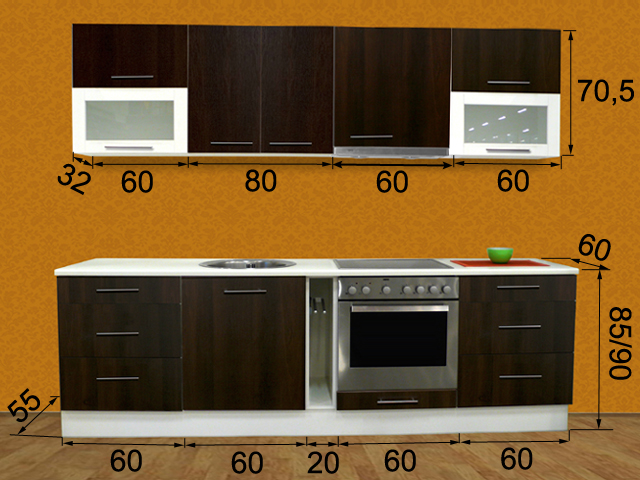 Кухня Tiina 1 PLXT