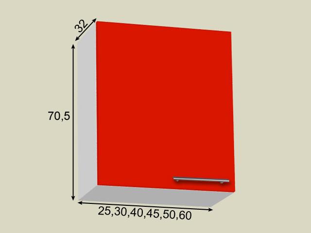 Seinakapp 1 uksega (kõrgus 70,5cm)