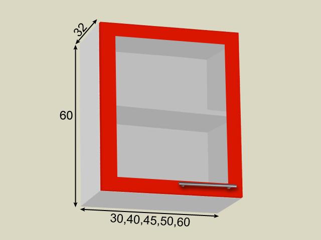 Seinakapp 1 klaasuksega (kõrgus 60cm)