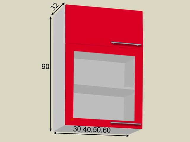 Seinakapp ukse ja klaasuksega (kõrgus 90cm)